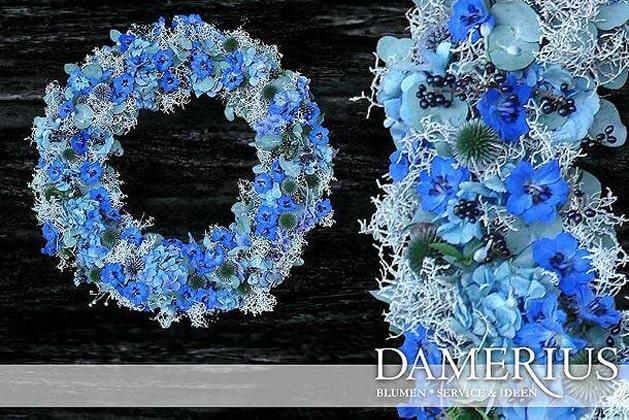 Blauer Trauer-Kranz von DAMERIUS