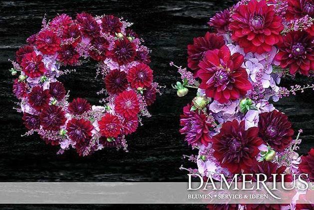 Pink  Trauer-Kranz von DAMERIUS